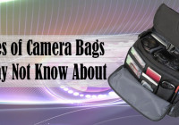 4 types of camera bags you may not know about